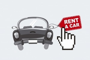 Rent a car (tecknat)