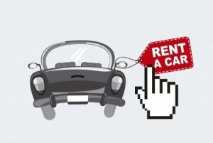 Rent a car (tecknat)